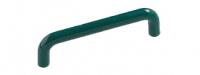 Poign�e de porte et tiroir de meuble en plastique vert entraxe 96 mm � 10 mm, FIL