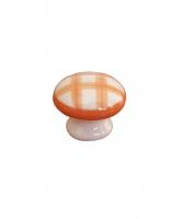 Bouton de porte et tiroir de meuble en porcelaine orange de � 33mm, KITCHEN