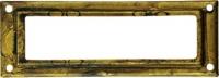 Porte-�tiquette en laiton finition rouill�, RECTANGLE