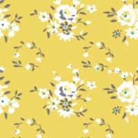 Papier peint intissé </br> Décoration YELLOW ROSE
