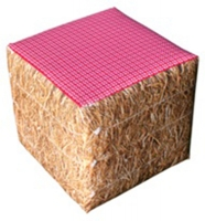 Pouf carré design <br> Décoration PAILLE