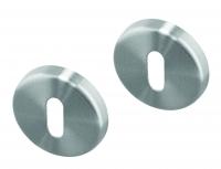Rosaces ronde sur jupe de poignée de porte intérieure VELOX FIX Clé L en Inox,  PLANO