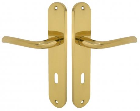 Poign e de porte int rieure en laiton poli brillant sur for Porte interieure basique