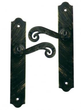 Poign e de porte int rieure en fer forg noir patin sur Porte interieure basique