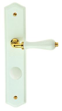 Poign e de porte int rieure en porcelaine blanche et zamak for Porte interieure basique