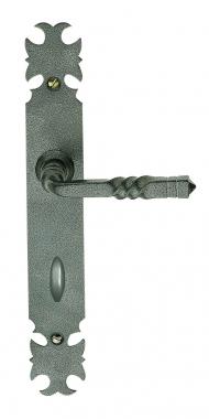 ARMORIQUE B/équille seule de poign/ée de porte dentr/ée rustique en fer forg/é noir
