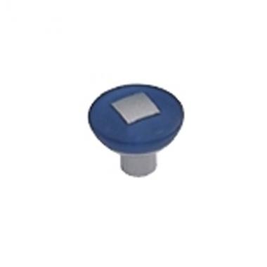 Bouton De Porte Et Tiroir De Meuble Design En Plastique Bleu O 29 Mm Rond Incruste Bouton Et Poignee De Meuble