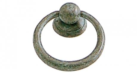 Bouton de meuble ancien en laiton anneau bouton et - Poignee de meuble ancien ...
