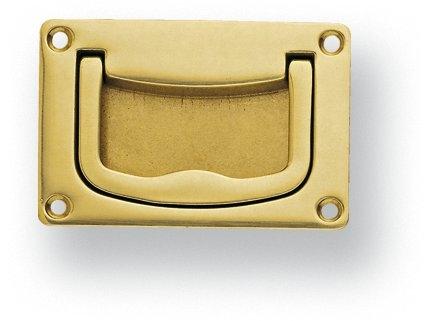 Poign e de porte ou tiroir de meuble en laiton poli - Poignee de porte brico ...