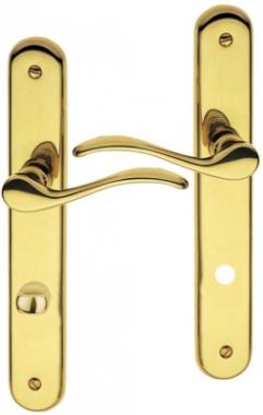poign e de porte int rieure design en laiton poli sur. Black Bedroom Furniture Sets. Home Design Ideas