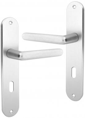 Poign e de porte int rieure en aluminium anodis argent Porte interieure basique