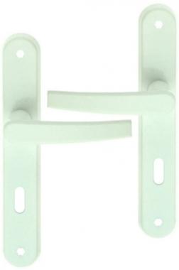 poign 233 e de porte int 233 rieure pas cher en aluminium laqu 233 blanc sur plaque cl 233 l avoriaz bouton