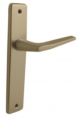 poign 233 e de porte int 233 rieure pas cher en aluminium anodis 233 argent sur plaque bdc entraxe 165 mm