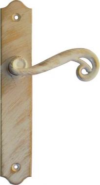 Poign e de porte int rieure rustique en fer forg blanc Porte interieure basique