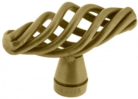 bouton de porte et tiroir de meuble rustique en acier bronze patin de 50x20mm torsade oval. Black Bedroom Furniture Sets. Home Design Ideas