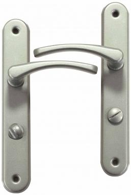 Poign e de porte int rieure en aluminium nickel mat sur for Porte interieure basique