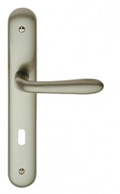 poign e de porte int rieure design en zamak epoxy perle sur plaque cl l entraxe 195 mm nautila. Black Bedroom Furniture Sets. Home Design Ideas