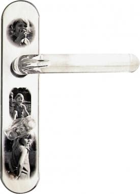 1 2 poign e de porte int rieure r versible design en - Poignee de porte interieure inox ...
