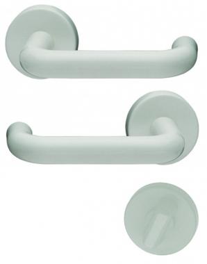 Poign e de porte int rieure pas cher en nylon blanc sur - Poignee de porte ronde en bois ...