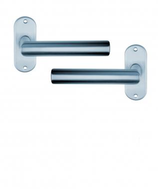 Poign e de porte design en aluminium anodis inox mat for Poignee de porte inox design
