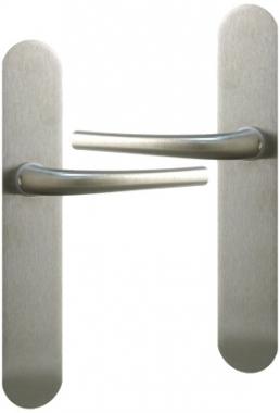 Poign e de porte int rieure en zamak chrom mat sur plaque for Porte interieure basique