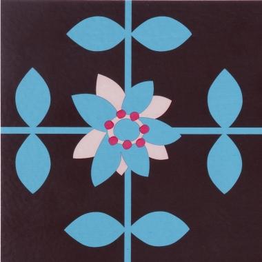 Dalle de sol auto adh sive d coration rose mary ouvre et for Decoration porte adhesive