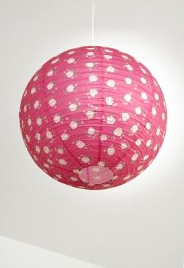 suspension boule japonaise d coration pink light ouvre et d co. Black Bedroom Furniture Sets. Home Design Ideas