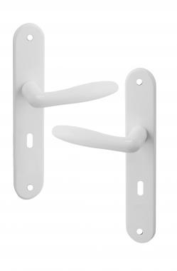 Poign e de porte int rieure design en aluminium blanc sur Porte interieure basique