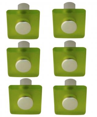 Lot De 6 Boutons De Porte Et Tiroir De Meuble Design En Acrylique Translucide Vert Square Bouton Poignee De Porte