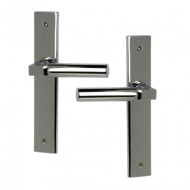 Poign e de porte int rieure design en inox chrom sur for Porte interieure basique