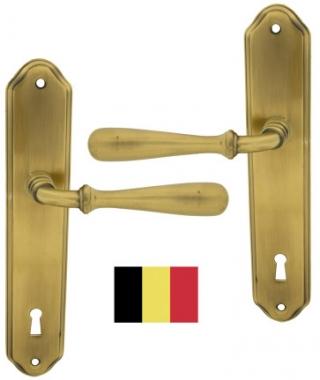 poign e de porte pas cher int rieure aux normes belges en zamak patin sur plaque cl l. Black Bedroom Furniture Sets. Home Design Ideas