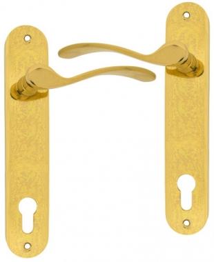 clenche de porte pas cher en laiton sur plaque cl i. Black Bedroom Furniture Sets. Home Design Ideas