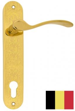 poign 233 e de porte pas cher en laiton sur plaque cl 233 i xapala norme belgique poign 233 e de porte