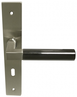 Poignée De Porte Intérieure En Laiton Nickel Mat Et Béquille Canon - Canon porte
