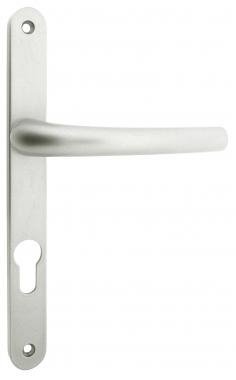 1 2 poign e de porte d 39 entr e en aluminium argent sur. Black Bedroom Furniture Sets. Home Design Ideas