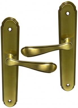 poign e de porte int rieure classique pas cher en zamak sur plaque bec de cane entraxe 195 mm. Black Bedroom Furniture Sets. Home Design Ideas