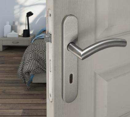 b quille double de porte int rieure velox fix en inox christina poign e de porte. Black Bedroom Furniture Sets. Home Design Ideas