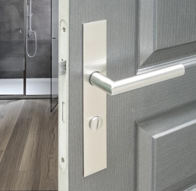 poign e de porte velox fix en inox sur plaque carr condamnation d condamnation entraxe 195 mm. Black Bedroom Furniture Sets. Home Design Ideas