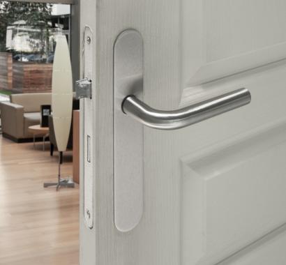 poign e de porte velox fix en inox sur plaque ronde bdc entraxe 165 mm champion poign e de porte. Black Bedroom Furniture Sets. Home Design Ideas