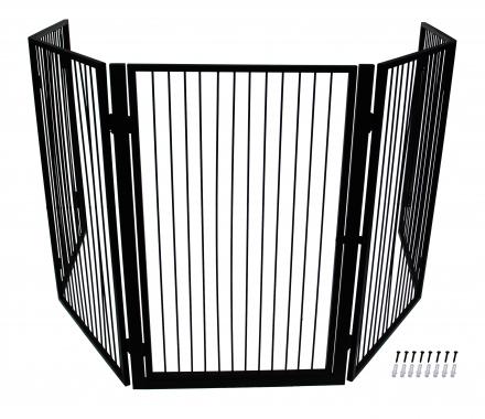 pare feu noir 5 volets pour chemin e chemin e ouvre et d co. Black Bedroom Furniture Sets. Home Design Ideas