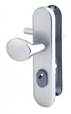 poign e de porte d 39 entr e pali re de s curit plaque en aluminium cl i entraxe 210 mm alba. Black Bedroom Furniture Sets. Home Design Ideas