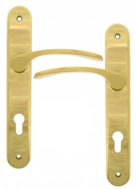 clenche de porte sur plaque cl i finition poli eva. Black Bedroom Furniture Sets. Home Design Ideas