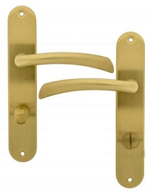 clenche de porte int rieure en zamak poli satin sur. Black Bedroom Furniture Sets. Home Design Ideas