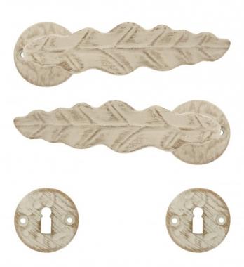 clenche de porte int rieure en alu finition blanc or sur. Black Bedroom Furniture Sets. Home Design Ideas