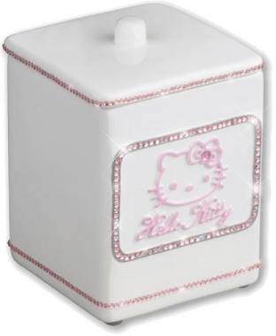 boite coton hello kitty strass white poign e de porte. Black Bedroom Furniture Sets. Home Design Ideas