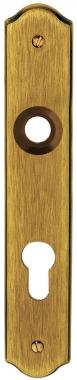 Plaque de poign e de porte ext rieure cl i en laiton for Poignee de porte exterieure