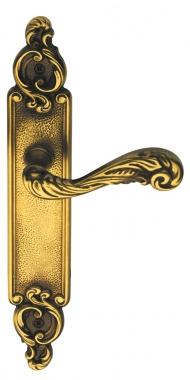 1 2 poign e de porte int rieure droite en laiton patin for Poignee de porte interieure noire