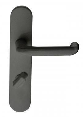 Poign e de porte int rieure pas cher en nylon noir sur for Porte interieure noire