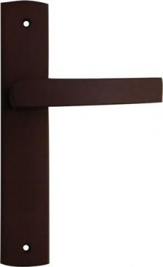 poign e de porte int rieure pas cher en bois weng sur plaque bec de cane entraxe 195mm. Black Bedroom Furniture Sets. Home Design Ideas