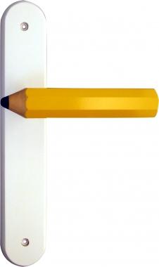 Poign e de porte int rieure pour chambre enfant sur plaque crayon poign e de porte - Plaque de porte chambre enfant ...